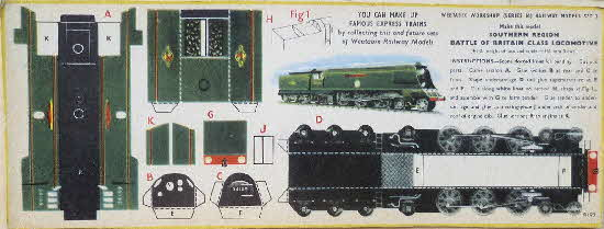 1950s Weetabix Workshop Series 16 SR Battle of Britain Class Loco R193