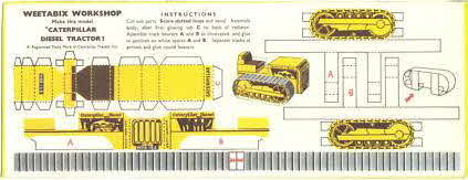 1955 Weetabix Workshop Series 4 Caterpillar Diesel Tractor (betr)