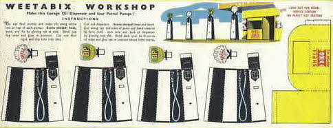 1955 Weetabix Workshop Series 4 Shell-BP Petrol Pumps (betr)