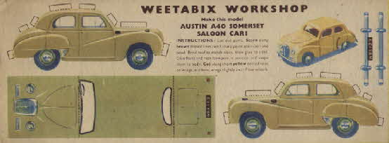 Weetabix workshop series 4 Austin A40 Somerset Saloon Car (betr)