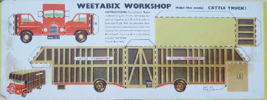 1954 Weetabix Workshop Series 5 Cattle Truck