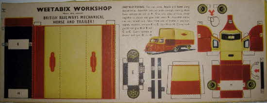 1955 Weetabix workshop series 5 BR Mechanical Horse & Trailer