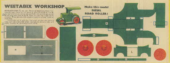 Weetabix workshop series 5 Diesel Road Roller