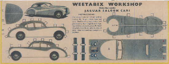 Weetabix workshop series 5 Jaguar Saloon Car