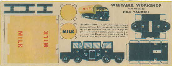 Weetabix workshop series 5 Milk Tanker