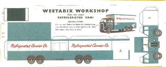 Weetabix Workshop series 8 Refigerated Van