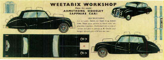 Weetabix workshop series 8 Armstrong Sidderly Saphire Car