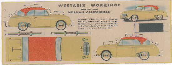 Weetabix workshop series 8 Hillman Californian
