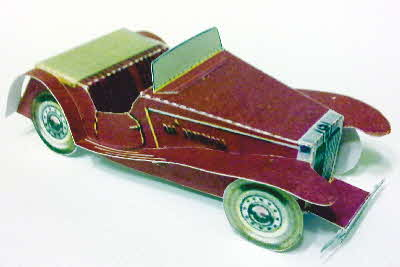 Weetabix workshop series 8 MG Sports Car made (1)