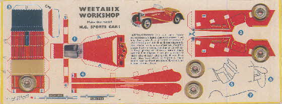 Weetabix workshop series 8 MG Sports Car