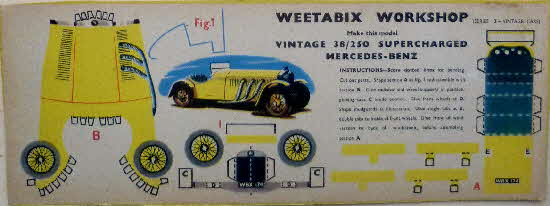 Weetabix Workshop Series 13 Vintage 38-250 Supercharged Mercedes-Benz