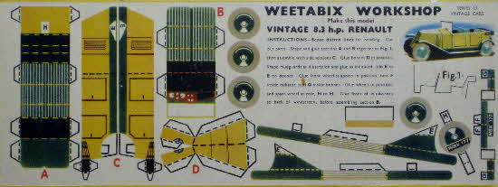 Weetabix workshop series 13 Vintage 8.3hp Renault