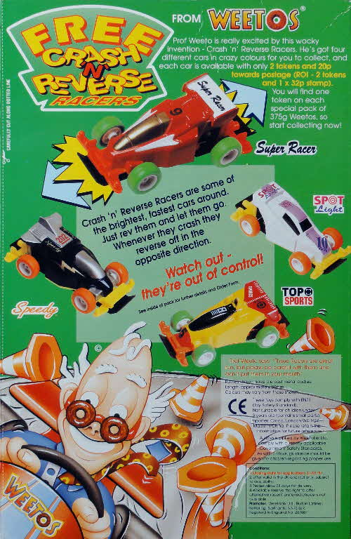 1995 Weetos Crash n Reverse cars