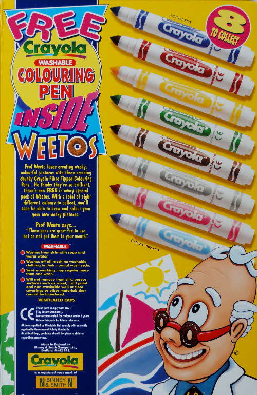 1999 Weetos Cryola Colouring Pens