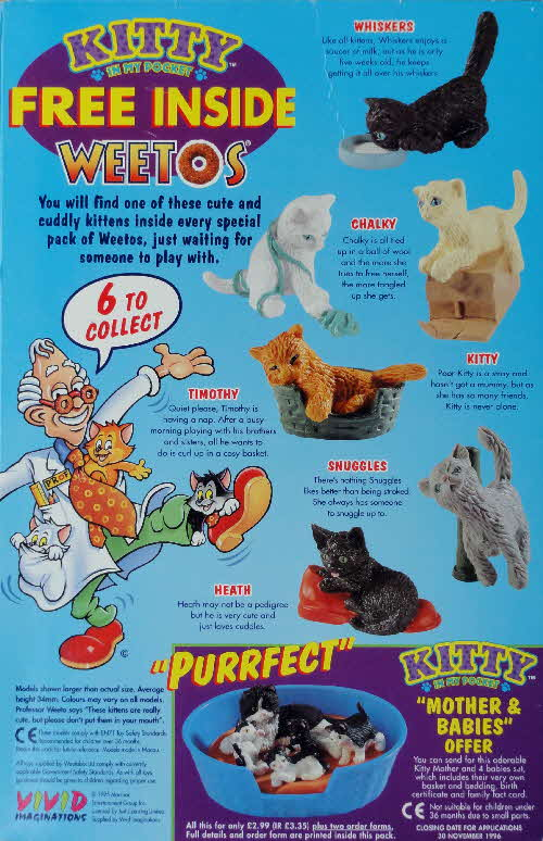 1995 Weetos Kitty in my Pocket