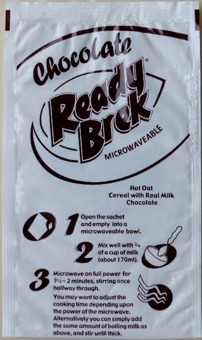2001 Chocolate Ready Brek Free Sachet In Packets Of Weetabix