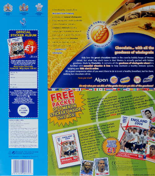 2006 Weetos England 2006 Football Stickers1