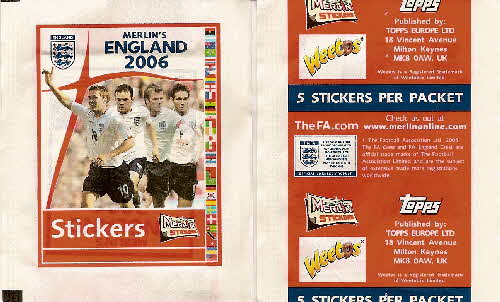 2006 Weetos England 2006 Football stickers