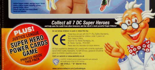 2003 Weetos Justice League Spinning Pencil Topper - Super Hero Power Cards Game