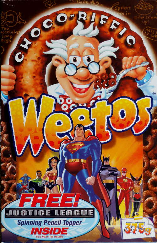 2003 Weetos Justice League front Superman