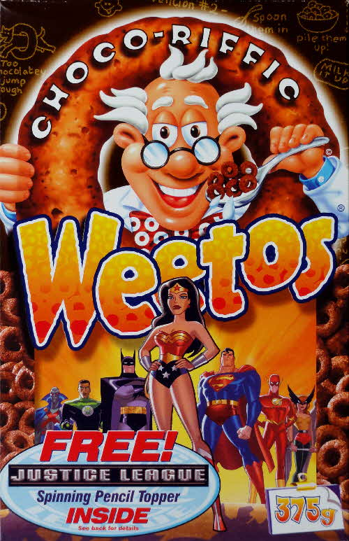 2003 Weetos Justice League front Wonderwoman