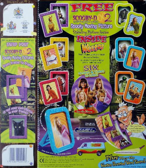 2004 Scooby Doo 2 Spooky Moving Picture Free Inside Weetabix Weetos