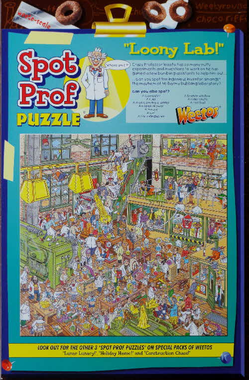 2002 & 2004 Weetos Prof Weetos Puzzles - reissued 2004 Loony Lab