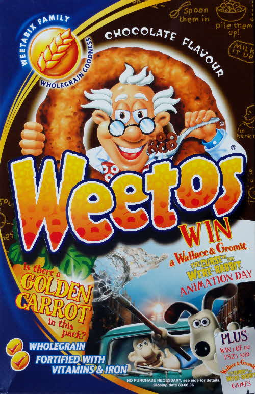 2005 Weetos Wallace & Grommit Golden Carrot Competition front