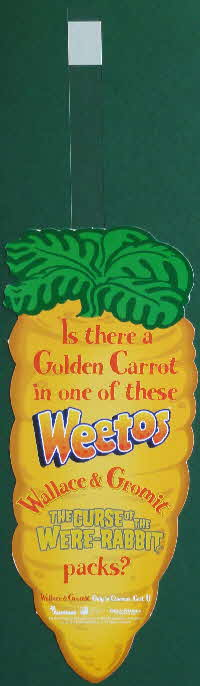 2005 Weetos Wallace & Grommit Golden Carrot competition Wobbler