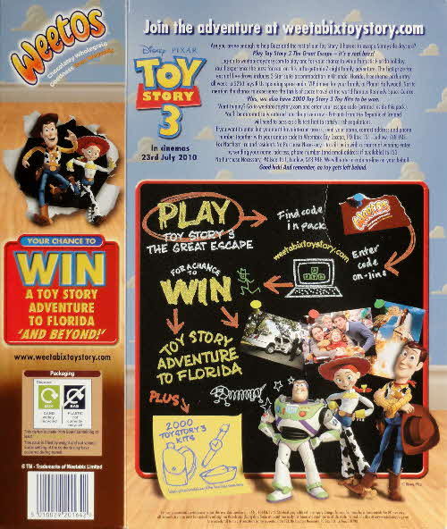 2010 Weetos Toy Story 3 Competition