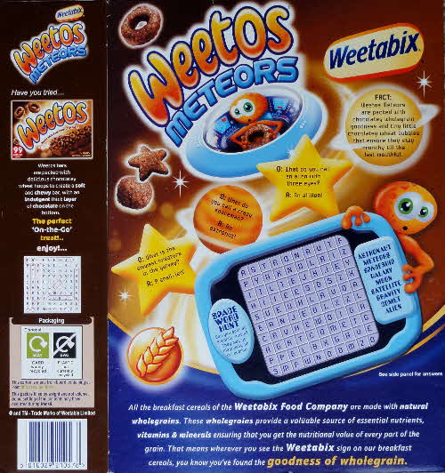 2008 Weetos Meteors New back