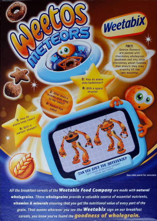 2010 Weetos Meteors Spot the Difference